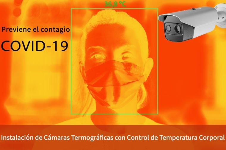 Electricista instalacion de camaras termicas covid19 en madrid