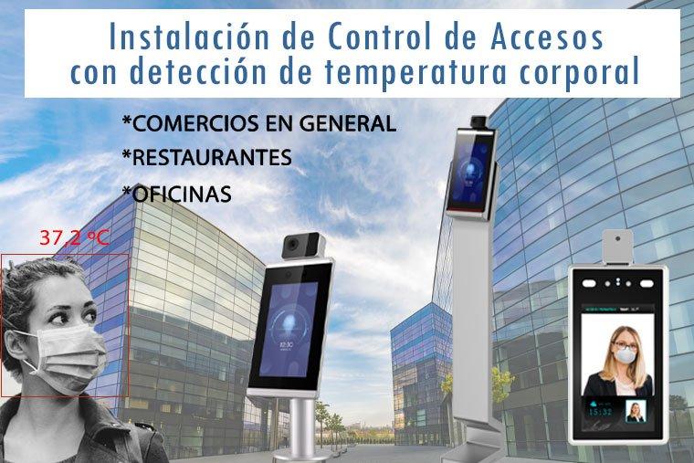 electricista instalacion de control de accesos temperatura corporal en madrid