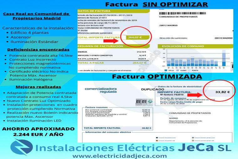 optimizar factura luz ahorro energetico bajar la factura luz