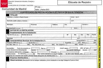 certificacion instalacion electrico boletin electrico en madrid